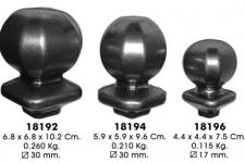 Кованые наконечники на столбы