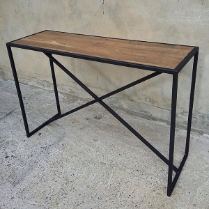 Столик Лофт 21 из металла и дерева