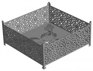 Очаг для костра (чаша) из металла