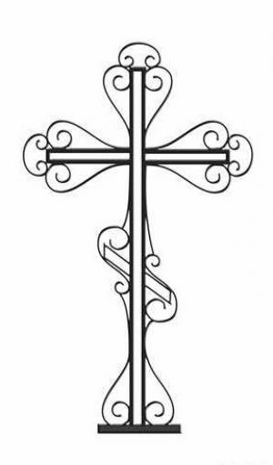 Кованый крест металлический