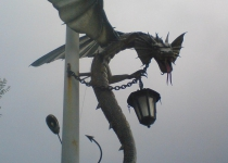 Кованый дракон 1 ручной ковки