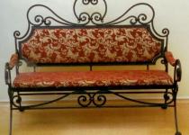 Кованый диван F24