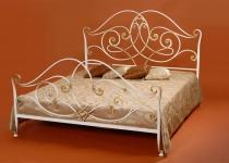 Кровать двуспальная белая F40