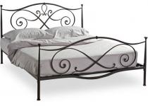 Кровать кованая с изголовьем F86