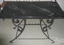 Кованый стол F190