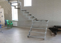 Металлокаркас лестницы L7