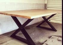 Стол с деревянной столешницей Loft-34