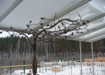 Кованое дерево ручной ковки