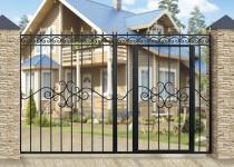 Типовые ворота Дачные с калиткой