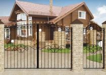 Типовые ворота Дачные арочные