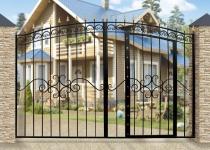 Типовые ворота Дачные арочные с калиткой