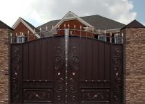 Типовые ворота Дворянские с калиткой