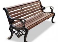 Чугунная скамейка Аллея