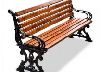 Чугунная скамейка Ампир