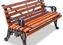 Чугунная скамейка Белые Ночи с подлокотниками