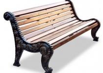 Чугунная скамейка Городская роща