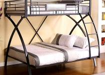 Двухярусная металлическая кровать F14