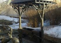 Кованый мангал Райский сад