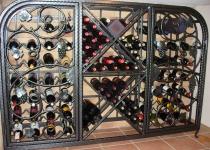Кованый винный шкаф Изабелла